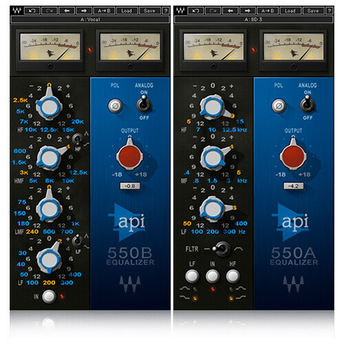 Waves API 550A and API 550B EQ Plugins