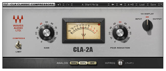 Waves CLA-2A Compressor Limiter Plugin