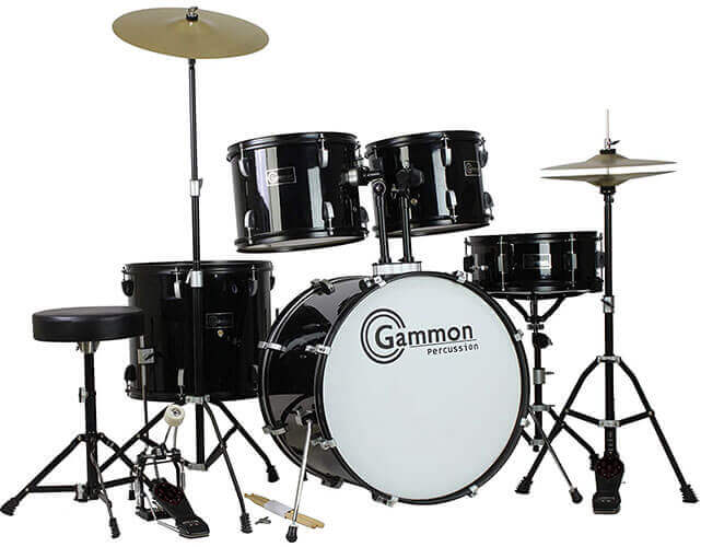 Gammon Percussion Full-Size 5-Piece Drum Set