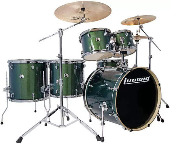 Ludwig Element Evolution 6-Piece Drum Set (Green)
