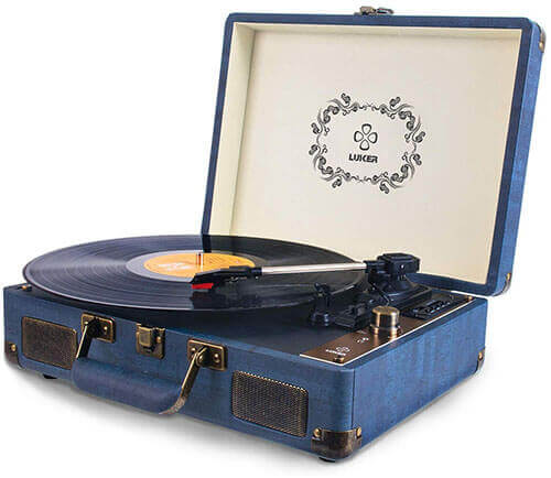 LUKER AT-1 Portable Suitcase Bluetooth Turntable
