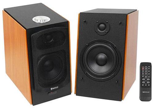 Rockville HD5 Powered Bookshelf Speakers Monitor System