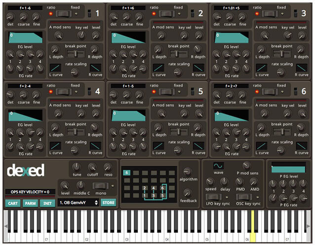 Dexed by Digital Suburban Plugin Synth