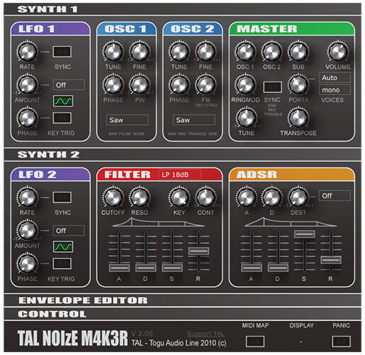 TAL NoiseMaker Synth VST Plugin