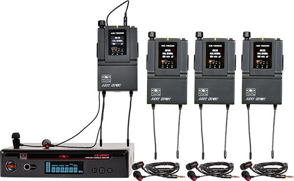 Galaxy Audio AS-1800-4 In-Ear Monitor System (4-Pack)