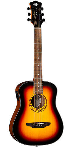 Luna Safari Tribal Travel Acoustic-Electric Guitar