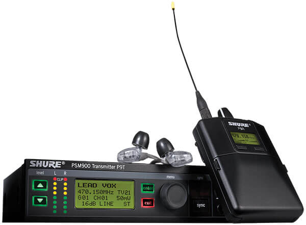 Shure P9TRA425CL Wireless In-Ear Monitor System