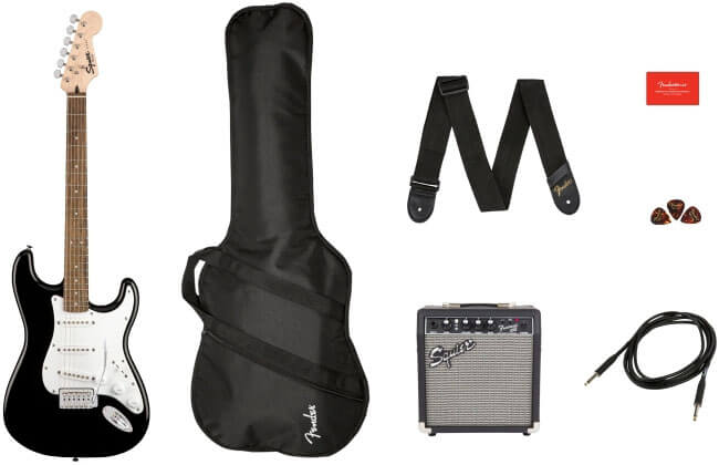 Squier Stratocaster Electric Guitar Starter Pack