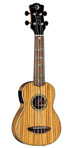 Luna High Tide Zebrawood Acoustic-Electric Soprano Ukulele
