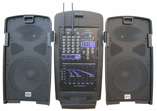 MUSYSIC M-Port PA2K 2000-Watt Portable PA System