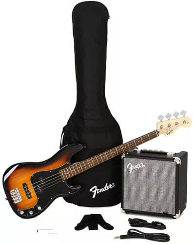 Squier Affinity Series Precision Bass PJ Pack (Brown Sunburst)