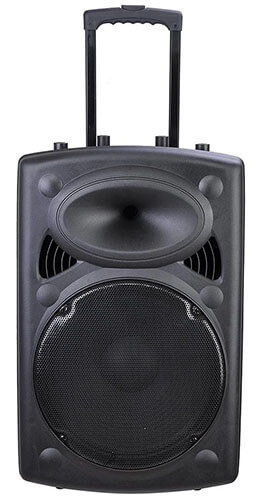 Yescom 12-Inch Portable Active PA Speaker with Microphone and Remote
