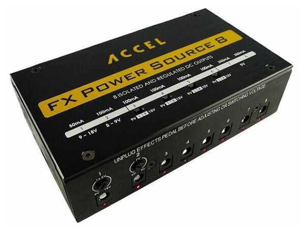 Accel FX Power Source 8 Pedal Power Supply