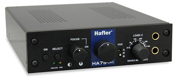 Hafler HA75-DAC Tube Head Headphone Amplifier with DAC