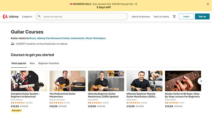 Udemy guitar lessons
