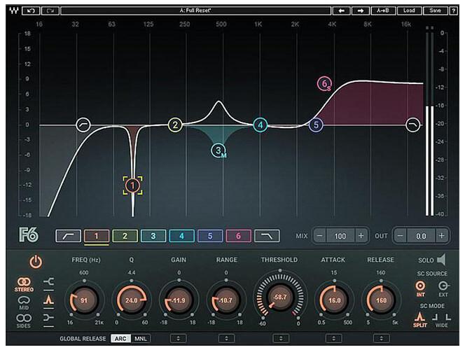Waves F6 Floating-Band Dynamic EQ Plugin