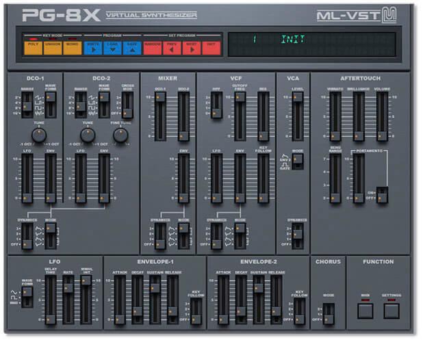 ML-VST PG-8X Synth Plugin