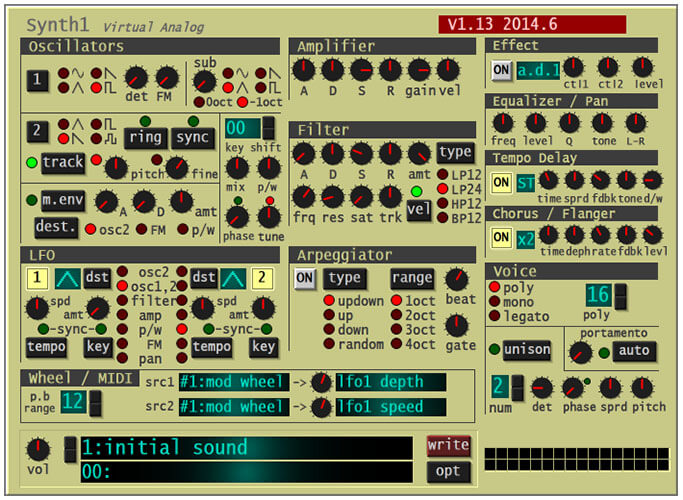 Synth1 Free Software Synthesizer