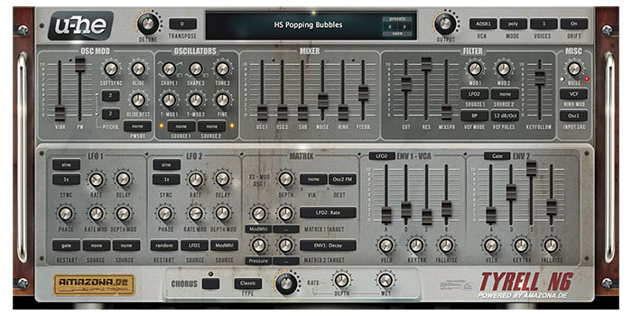 U-he Tyrell N6 Free Software Synthesizer